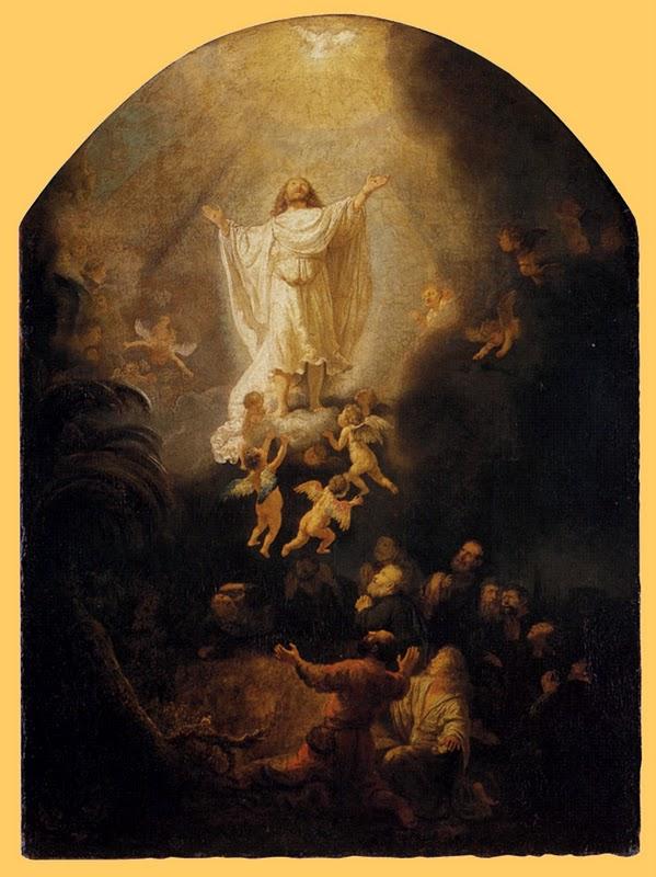 Rembrandt (1606-1669) ; L' Ascension du Christ ; huile sur toile, 1636. 92.7 x 68.3 cm
