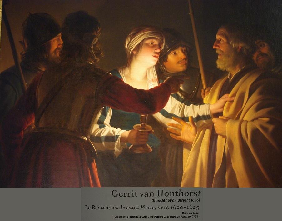 gerrit van Honthorst- le reniement de Pierre - UTRECH 16256
