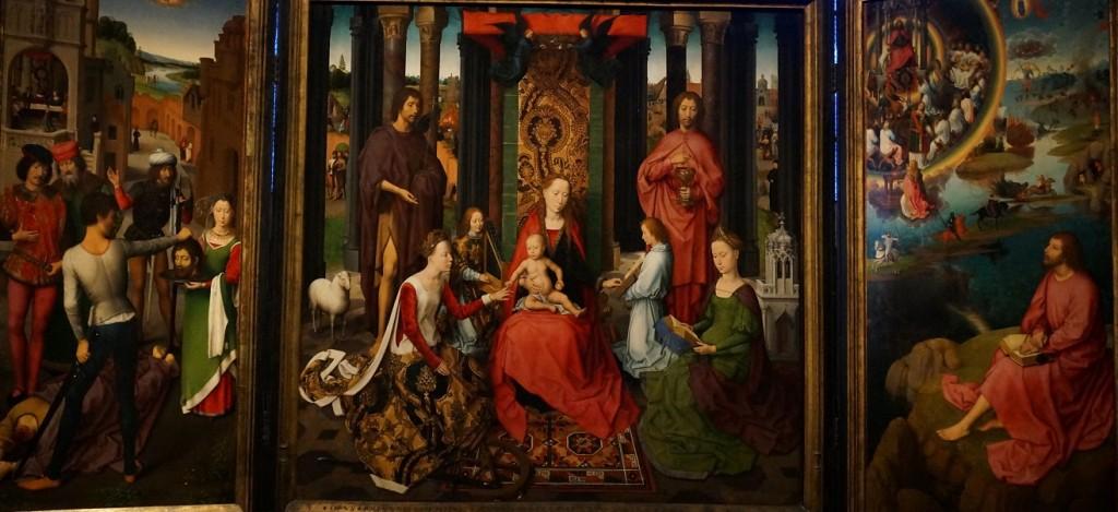 BRUGES MEMLING - TRIPTYQUE du mariage mystique de sainte catherine